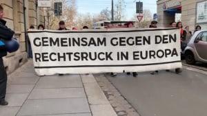 Proteste gegen Neonazi-Aufmarsch in Dresden