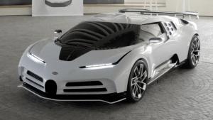 Historische Zelebrierung von Bugatti Hypersportwagen der Moderne