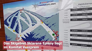 Ungarn kann auch Wintersport: Skiarena Eplény