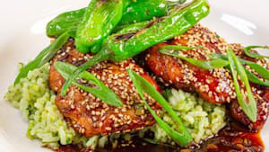 How to make sticky Asian chicken with rice
