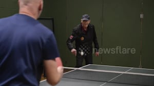 Devoted UK table tennis coach turns 80 this year