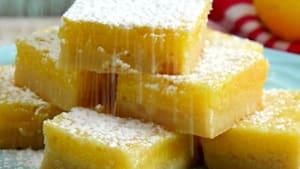 Lemon bars are the best savory treat