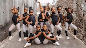 Ballerinas pose together for Black History Month