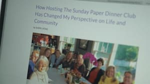 Group turned 'Sunday Paper' into a dinner club