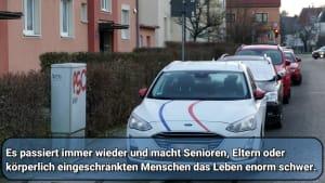 Falschparker blockieren Gehwege in München