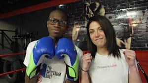 Woman's boxing class helps autistic children
