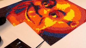 Artist uses Skittles to create movie characters