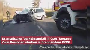 PKW geht nach Unfall in Flammen auf - Zwei Tote!