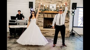 Father & daughter wedding dance is precious