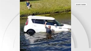 Good Samaritans pull driver from canal