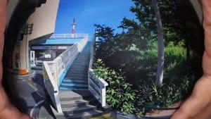 Artist paints photorealistic landscape scenes