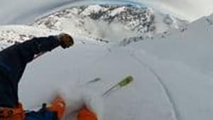 Skier Triggers And Gets Caught In Small Avalanche While Skiing