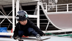 Three-year-old has impressive skateboarding skills