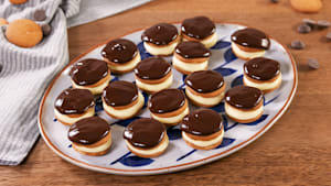 Mini Boston cream pies are as cute as can be
