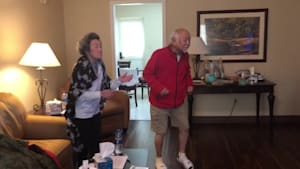 Quarantined grandparents dance to 'Superpower'