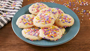 Tasty sugar cookies only have 3 ingredients