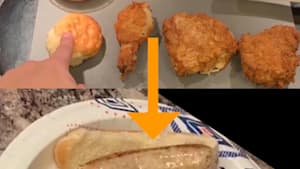 Youtuber stuffs an entire KFC meal into a sausage