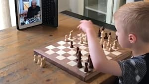 Grandpa and grandson played chess over FaceTime