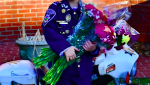 Kid uses Christmas money to buy flowers for elders