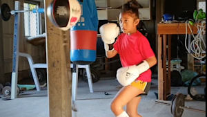 Young girl from Australia is a rising boxing star