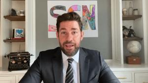 John Krasinski hosts uplifting Instagram talk show