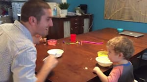 Kids Eating Food Adorably Groove to Dad's Beatbox Music