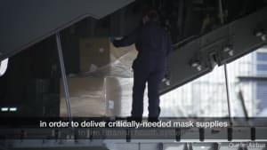 Schutzmasken-Luftbrücke nach Spanien!