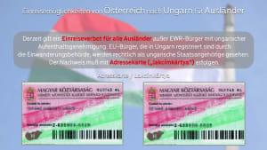 Einreisestop! Infos für EU Ausländer die nach Ungarn einreisen wollen