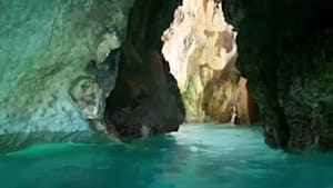 Take a swim through Earth's natural cave maze