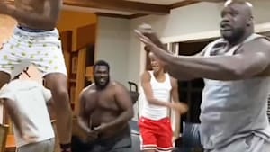 Shaq throws an epic kitchen concert for the family
