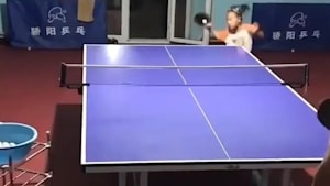 Little girl is amazing at ping pong