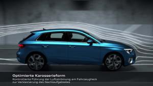 Audi A3 Sportback - Aerodynamik Animation