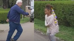 Grandpa and granddaughter have cutest dance-off