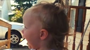 Toddler sees dad and can't hold back excitement