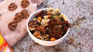 Ramen snack mix is a perfect combination