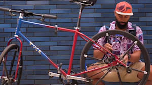 Bicycle folds into the size of a backpack