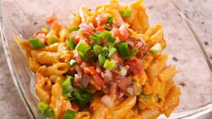 Taco mac and cheese is perfectly spicy