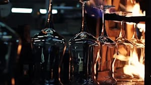 Inside look at how wine glasses are made