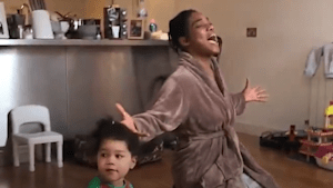 Family in quarantine shares hilarious video