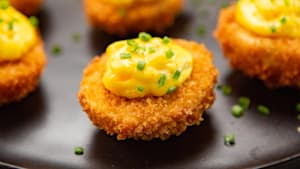 How to make fried deviled eggs