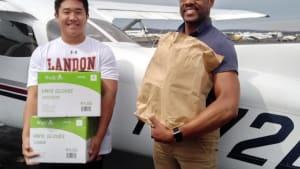 Teen pilot flies medical supplies to hospitals