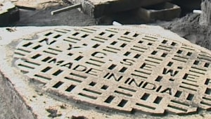 Many of NYC's manhole covers are made in India