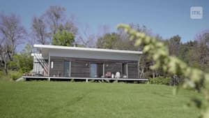 This young professional lives in a house built entirely out of old shipping containers!
