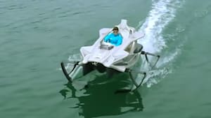 Awesome Quadrofoil gracefully cuts across the water