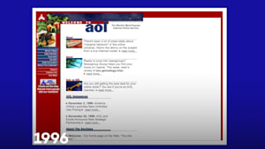 See AOL.com's evolving homepage layout through the years