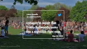 People Overcrowd Toronto Park Despite Social Distancing Rules