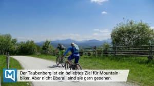 Mountainbiker wird am Taubenberg von aufgebrachtem Landwirt verfolgt
