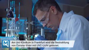 Tests zeigen: UVC-Strahlung tötet Coronavirus ab