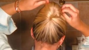 How to make a bun without a hair tie
