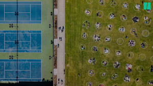 Cities Turn To Circles To Help Outdoor Physical Distancing